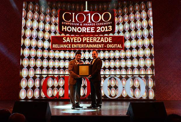 The Astute 100: Sayed Peerzade, VP-Technology of Reliance Big Entertainment receives the CIO100 Award for 2013