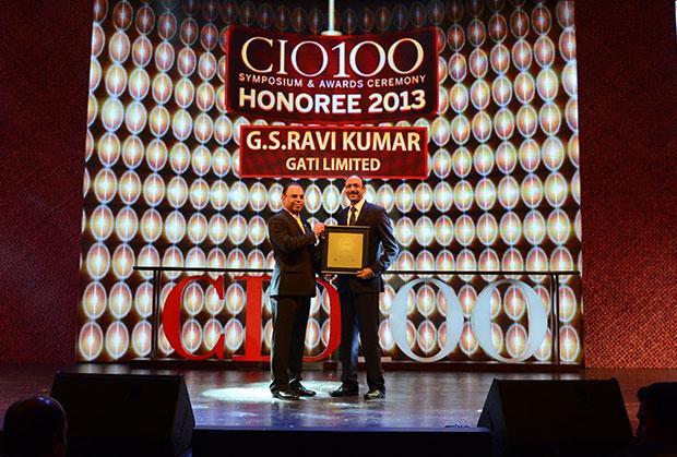 The Astute 100: G S Ravi Kumar, CIO of Gati receives the CIO100 Award for 2013
