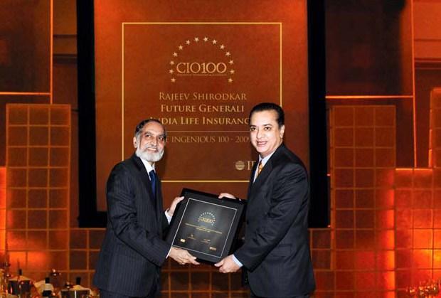 The Ingenious 100: Person, CIO of Future Generali Life Insurance receives the CIO100 Award for 2009