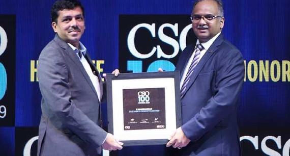 Manikandan K, AGM-IT at RAMCO Cements receives the CSO100 Award for 2019