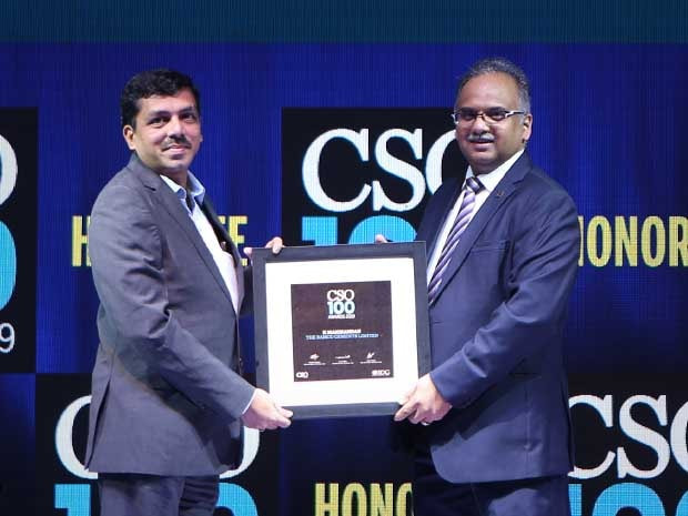 Manikandan K, AGM-IT at RAMCO Cements receives the CSO100 Award for 2019