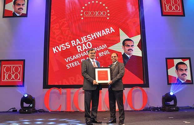 The Transformative 100: K V S S Rajeswara Rao, GM - IT at Visakhapatnam Steel Plant, RINL receives the CIO100 Award for 2016