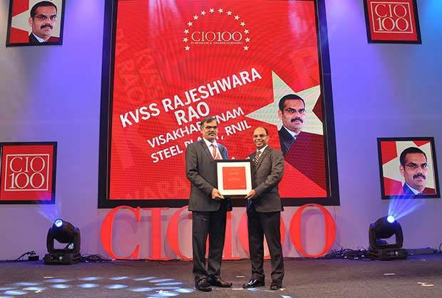The Transformative 100: K V S S Rajeswara Rao, GM - IT at Visakhapatnam Steel Plant, RINL receives the CIO100 Award for 2016