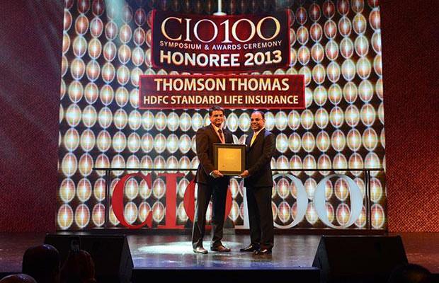 The Astute 100: Thomson Thomas, CIO of HDFC Life Insurance Co receives the CIO100 Award for 2013