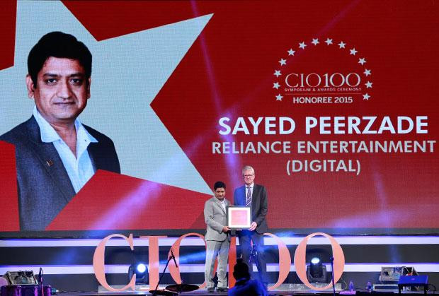 The Versatile 100: Sayed Peerzade, VP-Technology of Reliance Big Entertainment receives the CIO100 Award for 2015