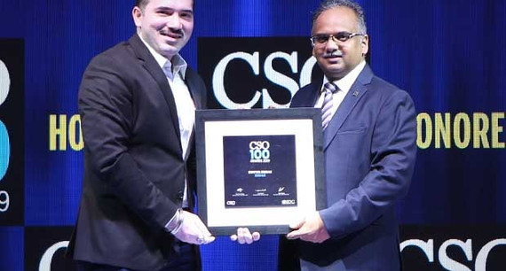 Keyur Desair, CIO for Essar Ports and Shipping business and Head Information Security, Network & Communications for Essar, receives the CSO100 Award for 2019