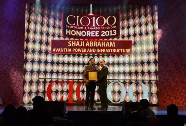 The Astute 100: Shaji Abraham, CIO of Avantha Power and Infrastructure receives the CIO100 Award for 2013