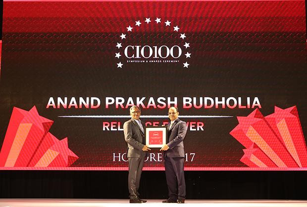 The Digital Innovators: Anand Budholia, Sr Vice President, Reliance Power receives the CIO100 Award for 2017