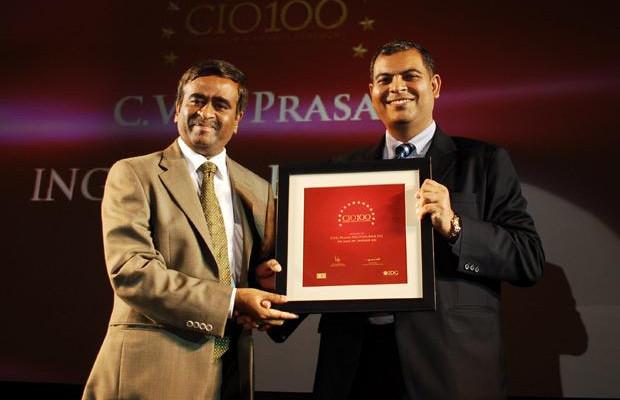 The Agile 100: C V G Prasad, CIO, ING Vysya Bank receives CIO100 Award for 2010