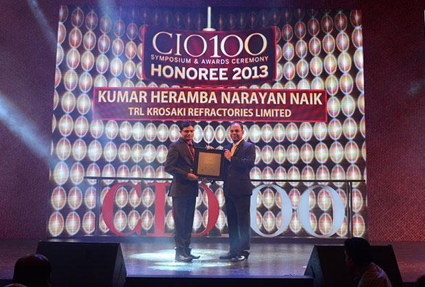 The Astute 100: Heramba Naik, GM (ICT) and CIO, TRL Krosaki Refractories receives the CIO100 Award for 2013
