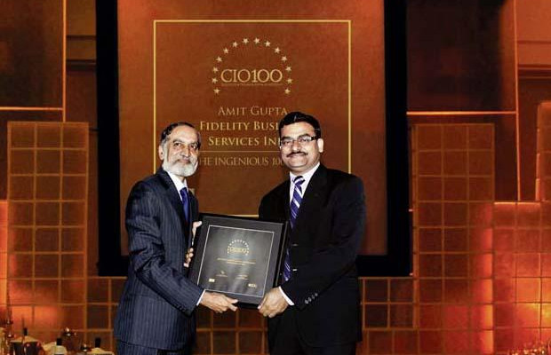 The Ingenious 100: Amit Gupta, VP-IT of Fidelity Business Services India receives the CIO100 Award for 2009
