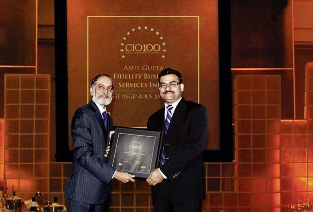The Ingenious 100: Amit Gupta, VP-IT of Fidelity Business Services India receives the CIO100 Award for 2009