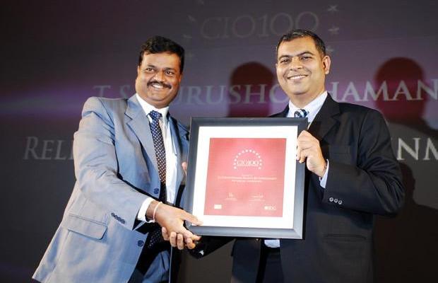 The Agile 100: TS Purushothaman, Vice President - IT, Reliance Big Entertainment receives the CIO100 Award for 2010