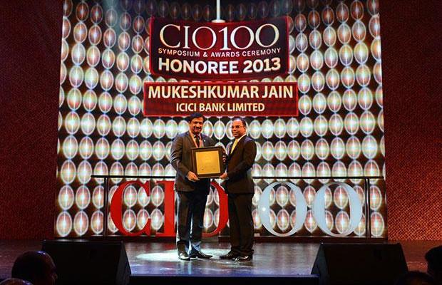 The Astute 100: Mukesh Kumar Jain, CTO of ICICI Bank receives the CIO100 Award for 2013