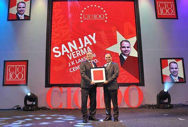 The Transformative 100: Sanjay Verma, Sr. GM - IT, J K Lakshmi Cement receives the CIO100 Award for 2016