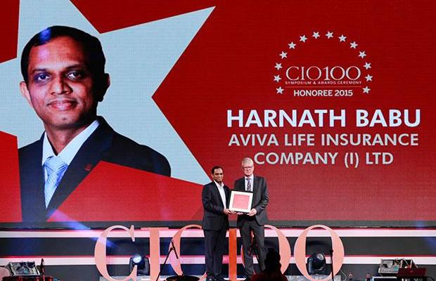 The Versatile 100: Harnath Babu, CIO of Aviva Life Insurance Company receives the CIO100 Award for 2015