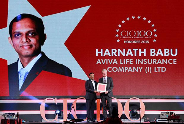 The Versatile 100: Harnath Babu, CIO of Aviva Life Insurance Company receives the CIO100 Award for 2015