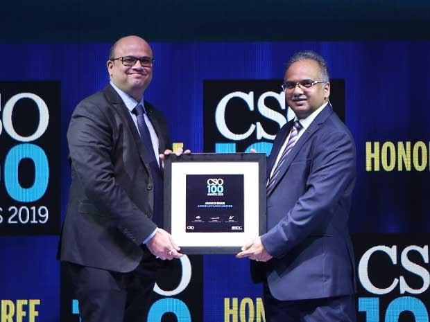 Amar H Shah, CISO, Ashok Leyland receives the CSO100 Award for 2019