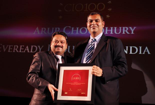 The Agile 100: Arup Choudhury, CIO of Eveready Industries India receives the CIO100 Award for 2010