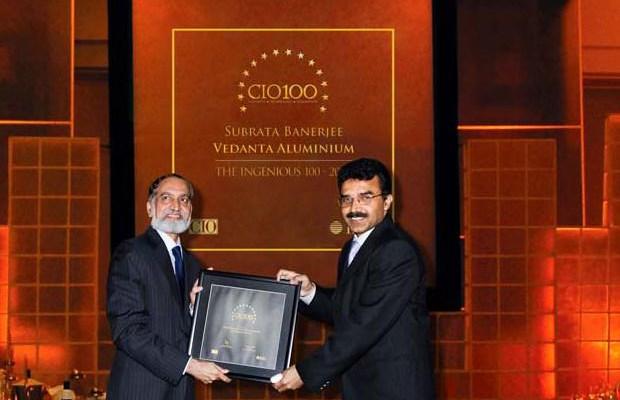 The Ingenious 100: Subrata Banerjee, VP - IT of Vedanta Aluminium receives the CIO100 Award for 2009