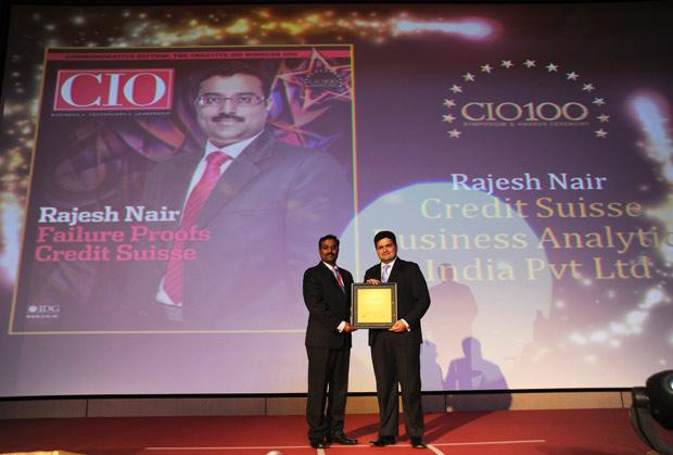 The Creative 100: Rajesh R Nair, VP-IT&Business Continuity, Credit Suisse Consulting receives the CIO100 Award for 2011