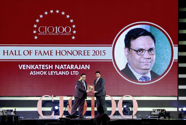 Hall of Fame: Venkatesh Natarajan, Special Director-IT of Ashok Leyland receives the CIO100 Special Award for 2015