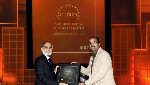 The Ingenious 100: Sudhir Kumar Reddy, VP & CIO, Mindtree receives the CIO100 Award for 2009