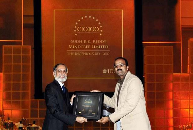 The Ingenious 100: Sudhir Kumar Reddy, VP & CIO, Mindtree receives the CIO100 Award for 2009