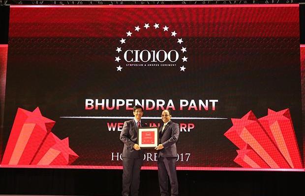 The Digital Innovators: Bhupendra Pant, VP & CIO, Welspun Corp receives the CIO100 Award for 2017