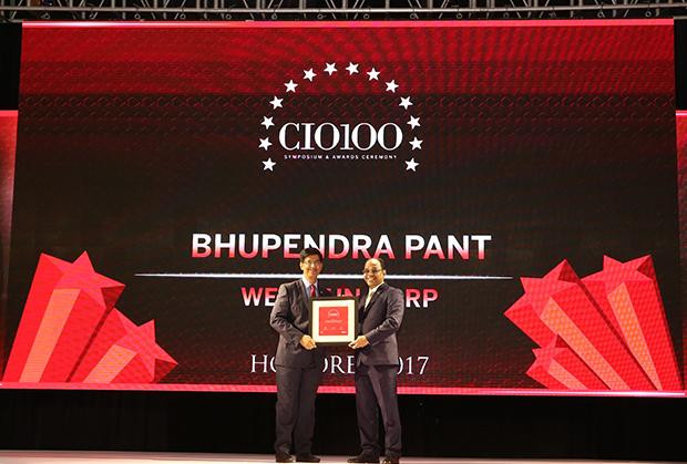 The Digital Innovators: Bhupendra Pant, VP & CIO, Welspun Corp receives the CIO100 Award for 2017
