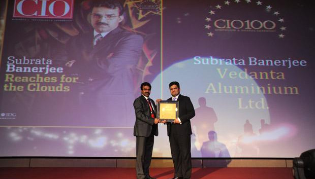 The Creative 100: Subrata Banerjee, VP - IT of Vedanta Aluminium receives the CIO100 Award for 2011