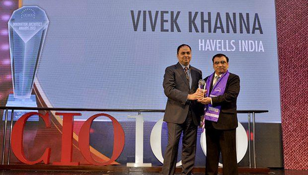 Innovation Architect: Vivek Khanna, Sr. VP-IT, Havells India receives the CIO100 Special Award for 2014 , constituted in association with Wipro