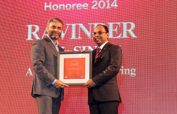 The Dynamic 100: Ravinder Pal Singh Global CIO at Air Works India Engineering receives the CIO100 Award for 2014