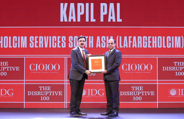 The Disruptive 100: Kapil Pal, Asia Head – IT Services, LafargeHolcim Group receives the CIO100 Award for 2019