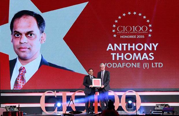 The Versatile 100: Anthony Thomas, CIO, Vodafone India receives the CIO100 Award for 2015