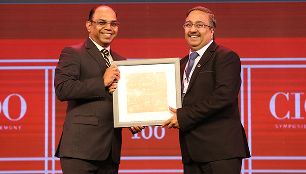 The Disruptive 100: Rajan Wahal, Indian Oil Corporation receives the CIO100 Award for 2019 on behalf of Deepak Agarwal, Executive Director (IS), Indian Oil Corporation