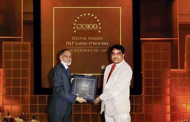 The Ingenious 100: Deepak Madan, VP- IT of DLF receives the CIO100 Award for 2009