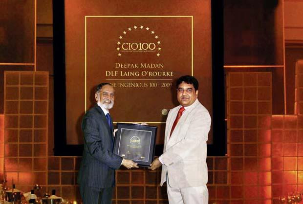 The Ingenious 100: Deepak Madan, VP- IT of DLF receives the CIO100 Award for 2009