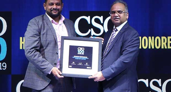 Swapnil Shirwadkar, Head DC Operations & Information Secuirty at IndiaFirst Life Insurance receives the CSO100 Award for 2019