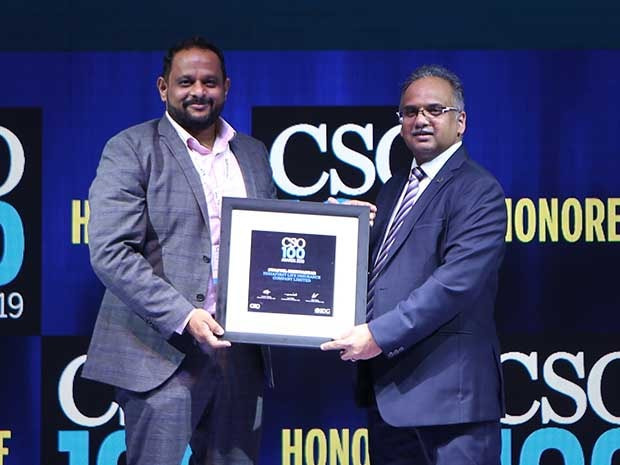 Swapnil Shirwadkar, Head DC Operations & Information Secuirty at IndiaFirst Life Insurance receives the CSO100 Award for 2019