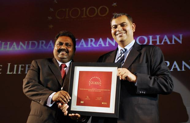 The Agile 100: Chandrasekaran Mohan, CTO of Reliance Capital receives the CIO100 Award for 2010