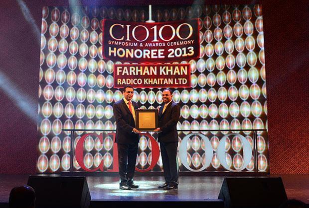 The Astute 100: Farhan Khan, VP - IT of Radico Khaitan receives the CIO100 Award for 2013