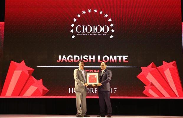 The Digital Innovators: Jagdish Lomte, VP and CIO-BTG at Thermax receives the CIO100 Award for 2017