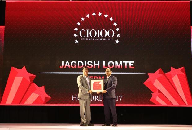 The Digital Innovators: Jagdish Lomte, VP and CIO-BTG at Thermax receives the CIO100 Award for 2017