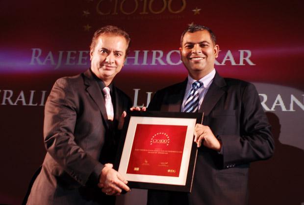 The Agile 100: Person, CIO of Future Generali Life Insurance receives the CIO100 Award for 2010