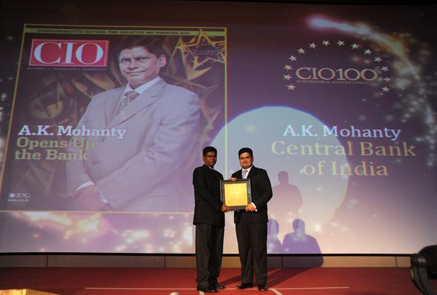 The Creative 100: A K Mohanty, Head IT of Central Bank Of India receives the CIO100 Award for 2011