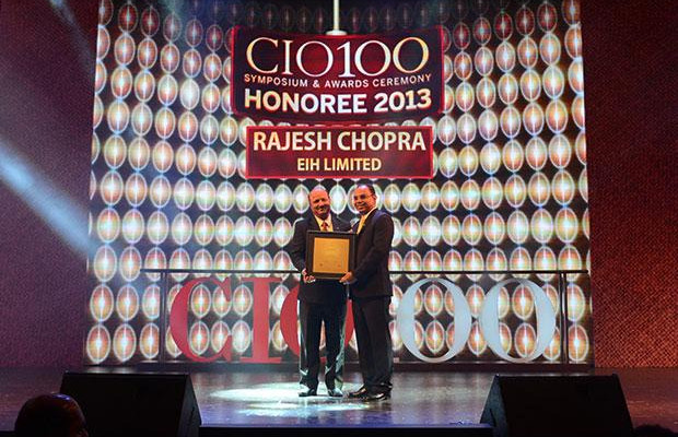 The Astute 100: Rajesh Chopra, Sr. VP IT of EHI- The Oberoi Hotels & Resorts receives the CIO100 Award for 2013.