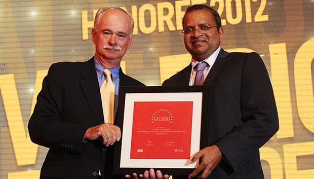 The Resilient 100: Valerio Fernandes, GM-IT, Continental Automotive Components receives the CIO100 Award for 2012.