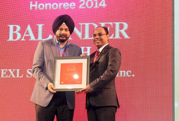 The Dynamic 100: Baljinder Singh, Global Head IT, EXL Services Holding receives the CIO100 Award for 2014