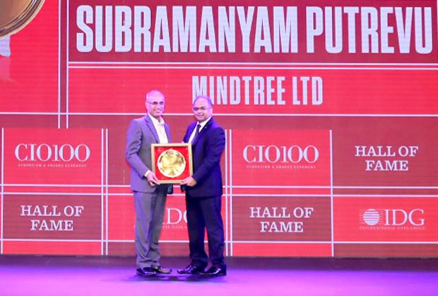 Hall of Fame: Subramanyam Putrevu, CIO, MindTree  receives the CIO100 Special Award for 2019